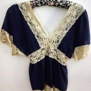 Rue 21 Lace Form Fitted Sexy Classy Top Womens Jrs